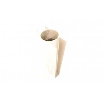 Betonplaathouder PVC diam. 60mm x 400mm met voetje (GRIJS)
