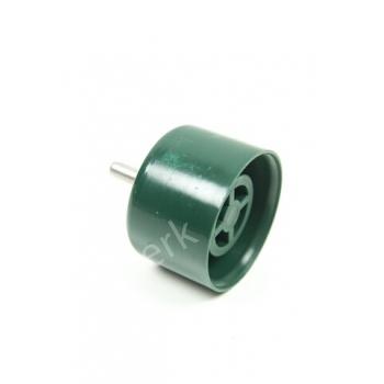 Einddop PVC diam. 42mm met RVS pin diam. 6mm