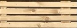 Houten scherm Horizontaal Fijn Recht 180x180cm(inox gevezen)