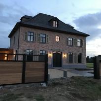 Aluminium draaipoort Cottage met affromosia  - Lm Hekwerk bvba