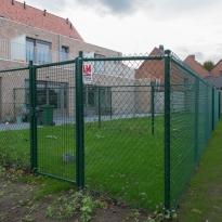 Afsluiting met bovenbuis Hoogte 180cm met tuinpoort - LM Hekwerk bvba
