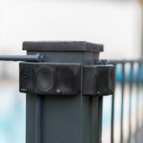Staalmatpanelen type 6/5/6mm, Hoogte 120cm (RAL 7016) detail - LM Hekwerk bvba