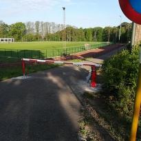 Manuele slagboom aan sportcomplex - LM Hekwerk bvba