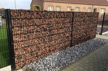 Steenkorven met Lavasteen - LM Hekwerk bvba