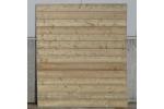 Houten scherm Horizontaal TAND/GROEF Recht 180x180cm type SOLIDE - LM Hekwerk bvba