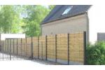 Houten tuinschermen met VDM gleufpalen - LM Hekwerk